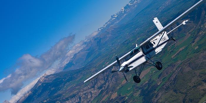 Saut en parachute Tallard Gap SKY-LIVE avion 2