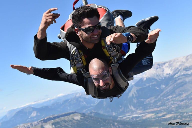 Saut en parachute tandem SKY-LIVE Tallard Gap C1