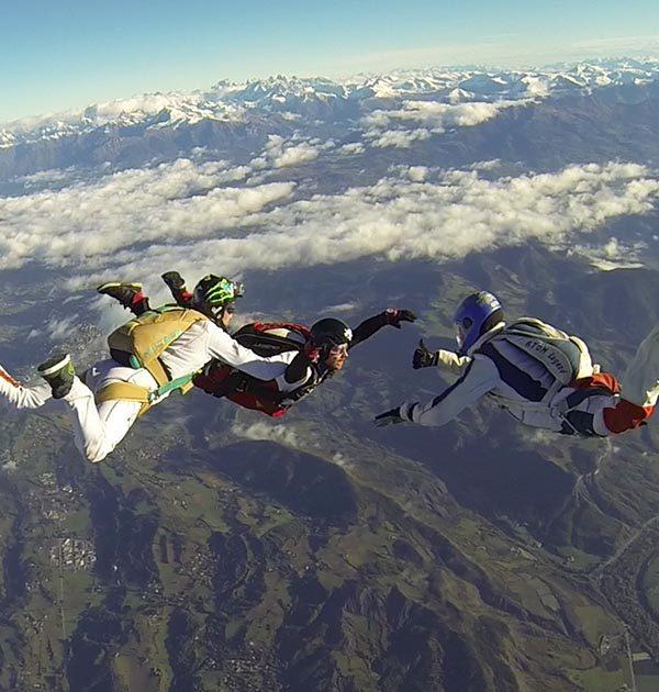 Réserver un saut d'initiation à Tallard Gap, hautes alpes SKY-LIVE